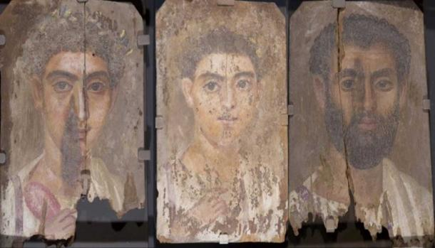 Roman-Egyptian funerary portraits.