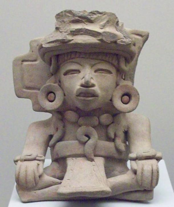 A funerary urn depicting a seated figure from the Zapotec culture – 100 -700 A.D.