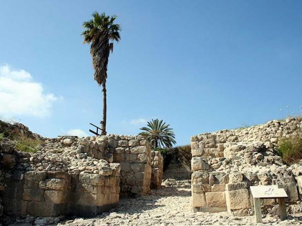 Late Bronze Age city gate at Megiddo.