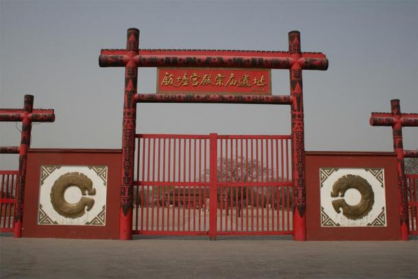 The gates outside the ancient capital of China: Yinxu World Heritage Site. (Gary Todd / Public domain)