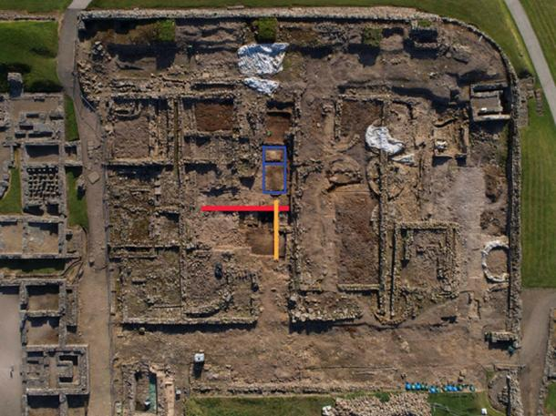 The general area of thefort currently being excavated, where the letters were found.