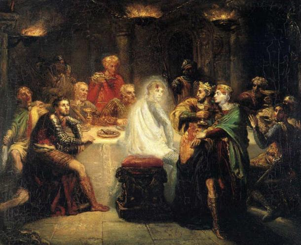 Painting: The ghost of Banquo.