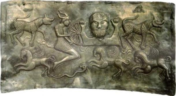 Plate of god Dagda of the Gundestrup cauldron.