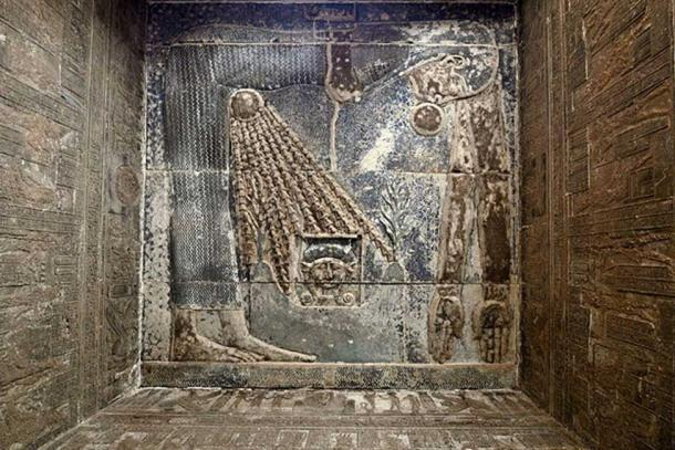 The goddess Nut depicted in the Temple of Hathor at Dendera