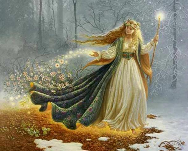 The goddess of spring.