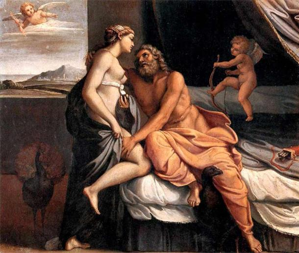 Hera, goddess of marriage, had a volatile relationship with Zeus, king of the Greek pantheon. (Public domain)