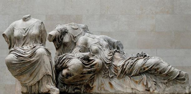 The goddesses Hestia, Dione and Aphrodite, from the Parthenon's east pediment, presently in the British Museum