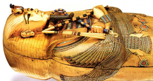 Tutankhamun's golden coffin.