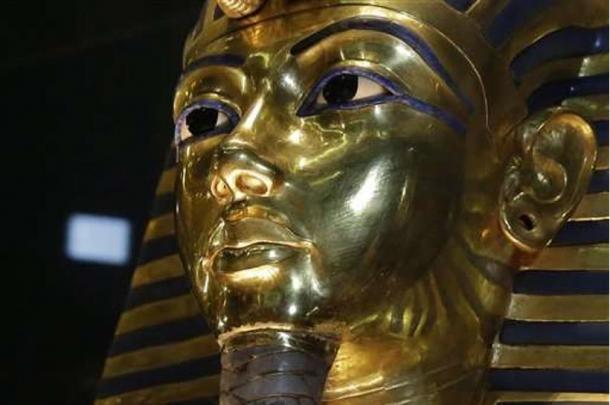 The golden mask of King Tut. Tutankhamen's tomb is the gateway to the lost tomb of Nefertiti according to a recent report.