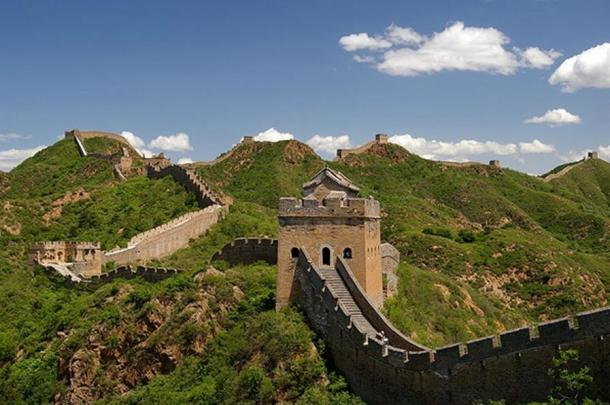 A section of the Great Wall of China near Jinshanling