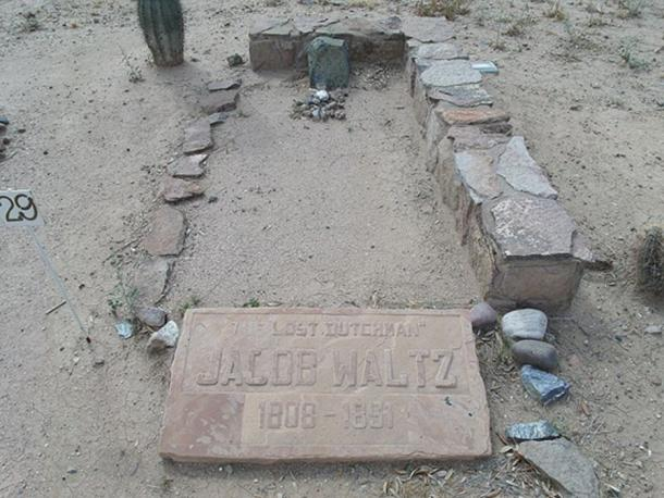 Grave of Jacob Waltz, Pioneer and Military Cemetery, west of downtown Phoenix.
