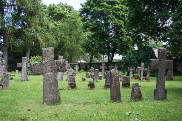 Graves at old cemetery of St. Brigitta convent, Tallinn, Estonia. (Victoria/Adobe Stock)