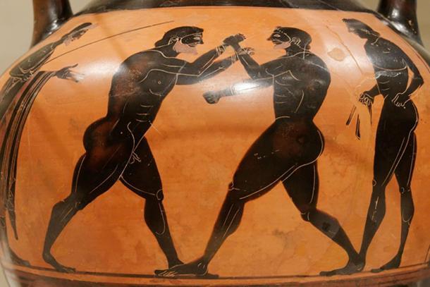 Ancient Greek boxers.