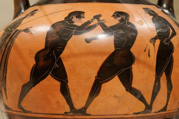 Ancient Greek boxers.