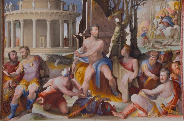 Some Greek myths said elites were sacrificed to purify the city. (François de Dijon / Public Domain)