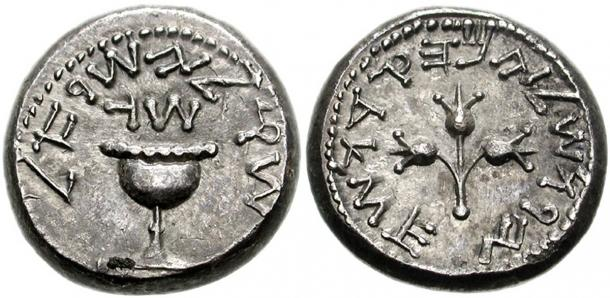 An early half-shekel coin from ancient Jerusalem, which was based on the much older limestone shekel weight system. (CNG coins / CC BY-SA 3.0)