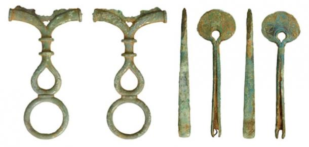 An iron age mirror handle and a pair of tweezers was another 2020 find. (The British Museum)