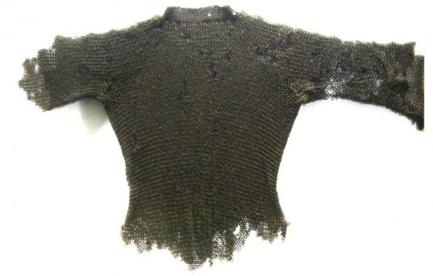 The part of knight armor covering the chest and back was call a hauberk