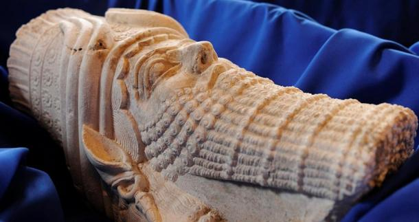 Statue depicting the head of the Assyrian King Sargon II, the ruler who wanted to make Karkemish the capital.
