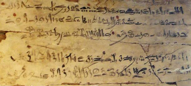 Example of hieratic writing. Exercise tablet with hieratic excerpt from 'The Instructions of Amenemhat'. Dynasty XVIII, reign of Amenhotep I, c. 1514–1493 BC.
