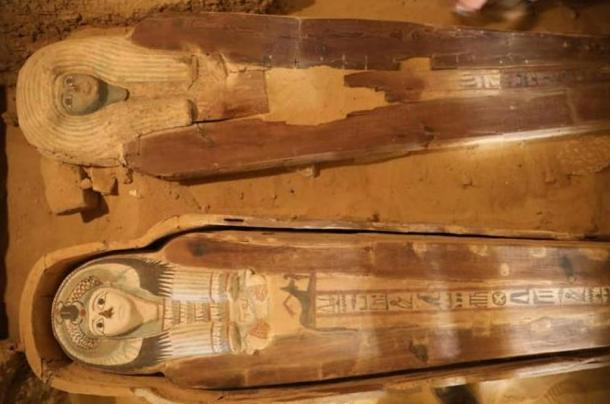 Two highly-decorated coffins found in the Giza Plateau cemetery