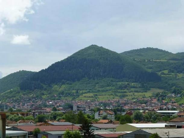 Visočica hill in Bosnia.