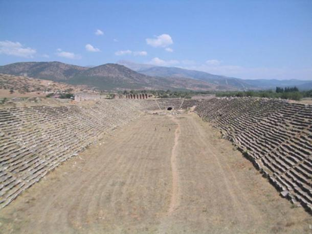 A hippodrome in Aphrodisias, Turkey.
