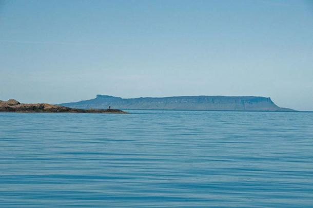 The historic Isle of Eigg as seen from Knoydart, Scotland.