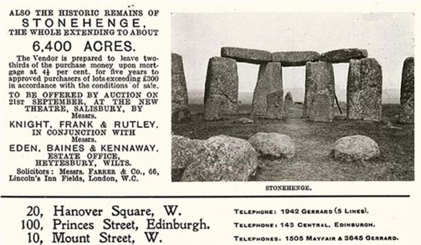 In 1915, the historic site of Stonehenge could have been yours for less than $10,000.