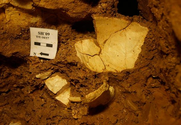 The hominin's bones were found in LH6—in a layer of red clay fairly deep