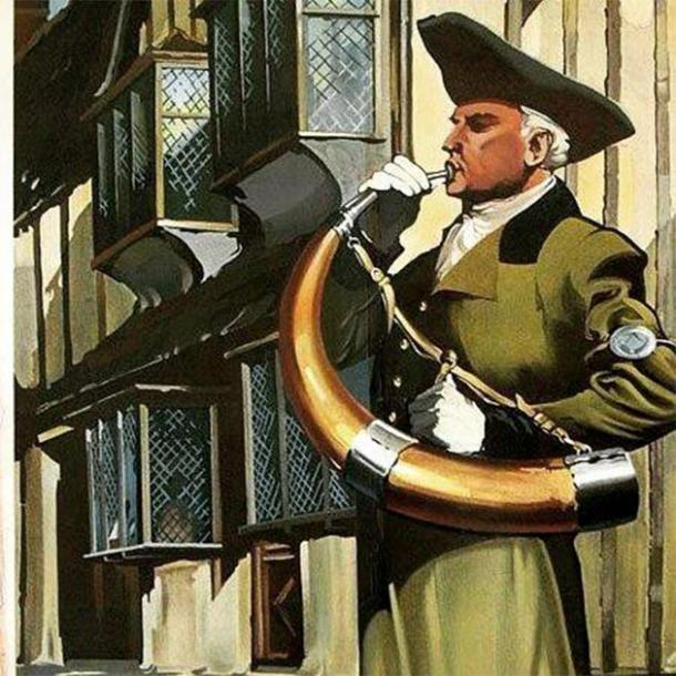 The horn has announced the watch during the Norman Conquest, Black Death, English Civil War, and the German bombing of Britain during WWII. (Ripon Hornblower)
