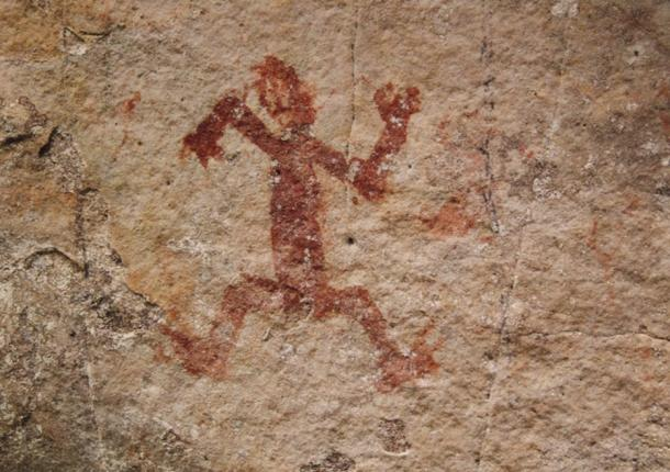 Rock art from another part of Chiribiquete depicts a human figure.