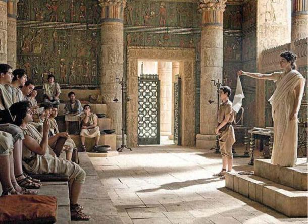 Hypatia teaching a class