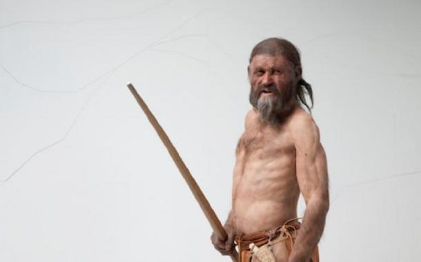 The Iceman's reconstruction with yew bow in hand, by Alfons & Adrie Kennis Source: © South Tyrol Museum of Archaeology / Ochsenreiter