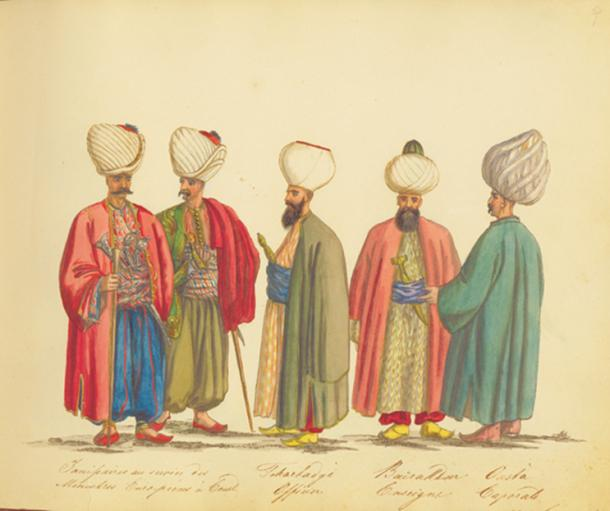 An illustration of Janissaries.