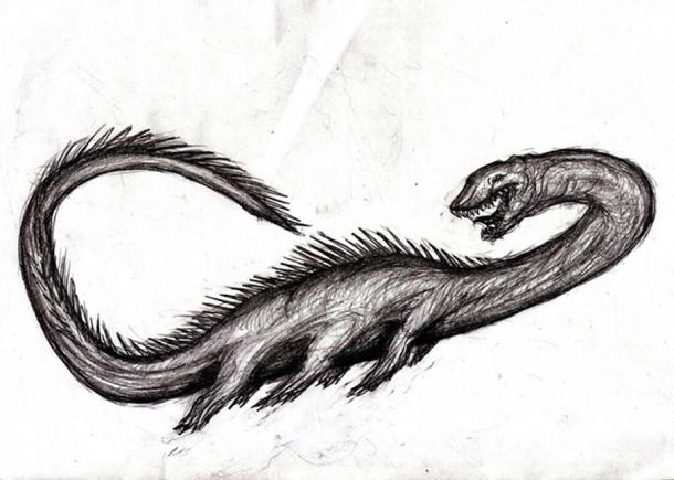 An illustration of the Stronsay beast.