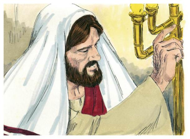 Biblical illustration of Gospel of Luke Chapter 4, which suggests Jesus was literate (Jim Padgett / CC-BY-SA 3.0)