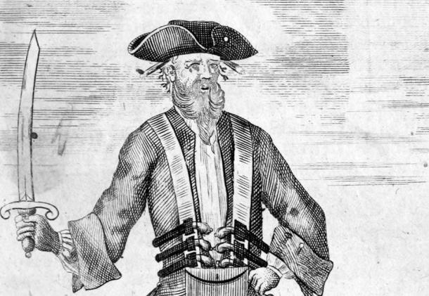 The only contemporary image of Blackbeard