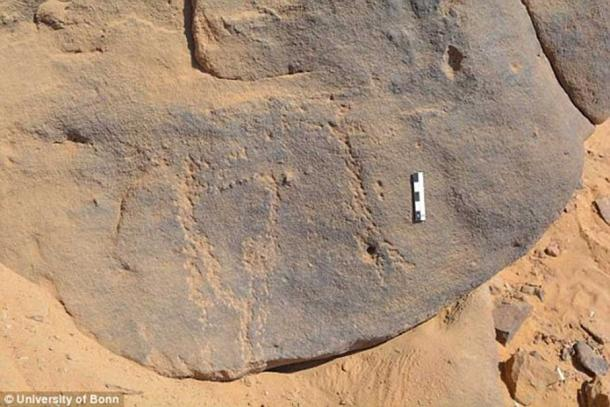 The image of the petroglyph in this photo may date back 6,000 years, to a time before pharaohs tried to cement their place in all eternity by building huge mortuary monuments, resting places for the afterlife.