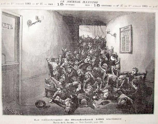 Image taken from the French paper, Le Journal Illustre depicting the terrible scene at Victoria Hall. (sunderland.yolasite / Public Domain)