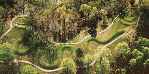 Aerial View of Serpent Mound. (The Archaeological Conservancy)