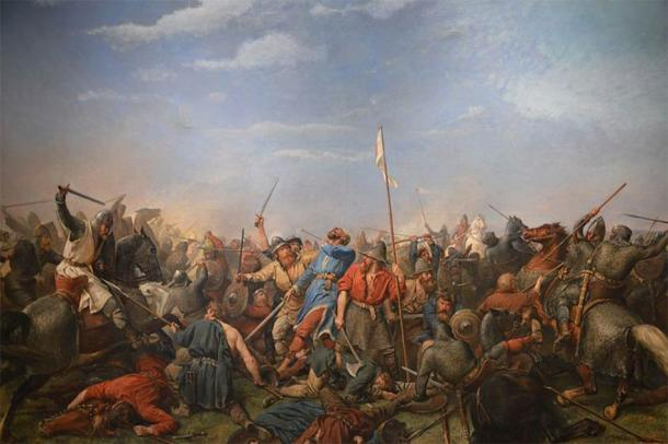 The Battle of Stamford Bridge, 1066 by Peter Nicolai Arbo, 1870. (Public Domain)