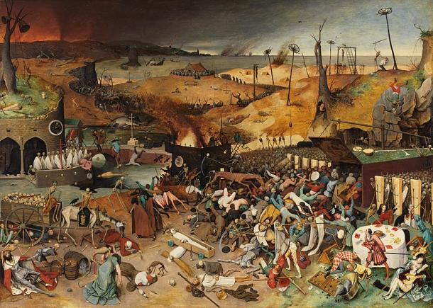 Pieter Bruegel depicts the social upheaval and devastation of the deadly whirlwind of the plague in medieval Europe in 'The Triumph of Death'. (Public domain)