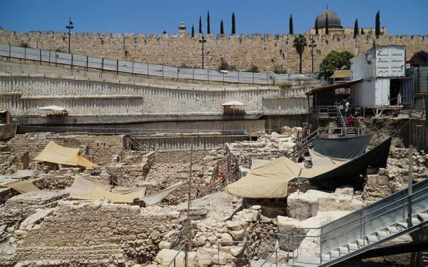 Excavation of parking lot in Jerusalem. (Israel Antiquities Authority)