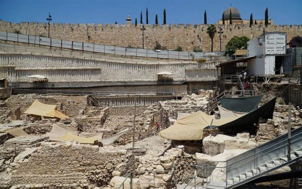 Excavation of parking lot in Jerusalem. (Israel Antiquities Authority)