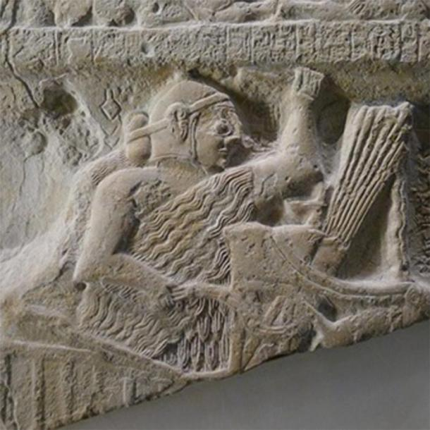 Detail of the Stele of the Vultures (2460s BC) showing 'Eannatum', King of Lagash, riding a war chariot with a sword his hand. Louvre Museum. (MBZT/CC BY-SA 3.0)