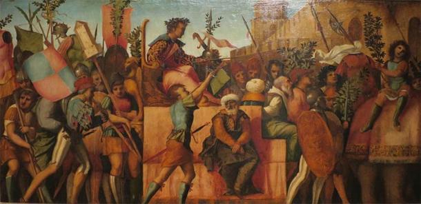 The Triumph of Caesar' by Jacopo Palma il Vecchio. (c. 1510) Lowe Art Museum. (Public Domain)