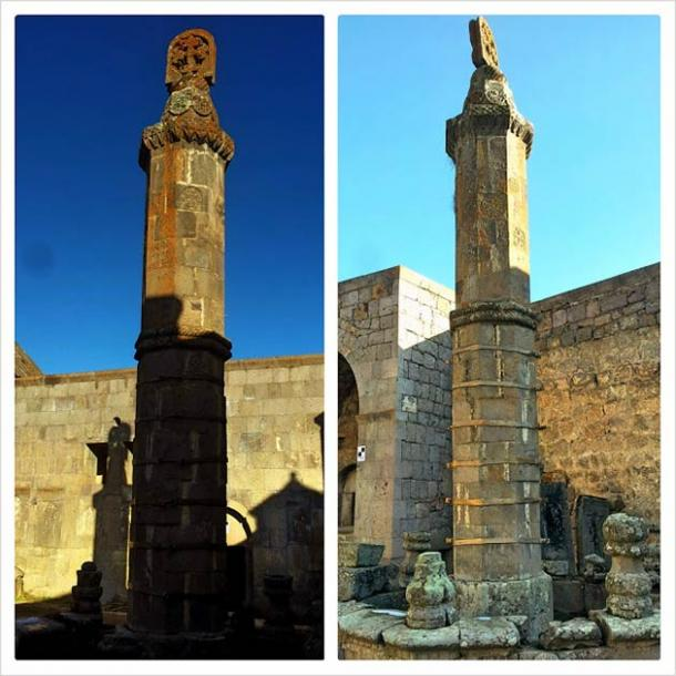 The seismographic Gavazan column at Tatev monastery (Black Dog Bicycling)