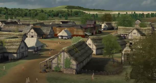 Artist's reconstruction of Lutetia before the Romans by Dassault Systemes (YouTube screenshot)