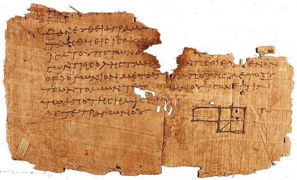 Euclides es considerado el padre de la geometría. Elementos, cuyo fragmento se muestra aquí, es uno de los trabajos más influyentes en la historia de las matemáticas. (Dominio público)